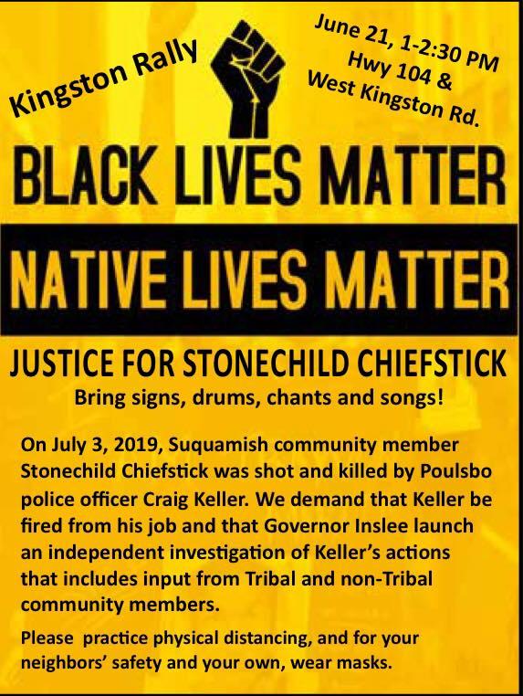 Black Lives Matter/Native Lives Matter Rally in Kingston 6/21/20