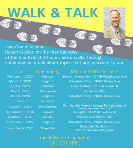 Gelder walk'n'talk schedule